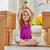 yeni · ev · hareket · mutlu · çocuk · ev · eğlence - stok fotoğraf © choreograph