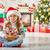 girl in santas hat stock photo © choreograph