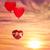 gelukkige · verjaardag · hartvorm · ballonnen · hemel · gekleurd - stockfoto © choreograph