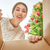 женщину · открытие · Рождества · настоящее · веселый · счастливым - Сток-фото © choreograph