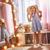 csinos · kislány · nagy · cipők · kicsi · szőke · nő - stock fotó © choreograph