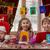famiglia · ragazzi · pittura · nuova · casa · sorridere - foto d'archivio © choreograph