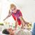 família · diversão · mãe · filha · saltando · cama - foto stock © choreograph