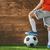 weinig · voetballer · jongen · klein · bal - stockfoto © choreograph