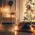 Рождества · свечей · Vintage · красный · свечу · мяча - Сток-фото © choreograph