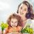 tavasz · nyár · itt · nő · boldog · kislány - stock fotó © choreograph