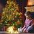Weihnachten · dekoriert · Kamin · Baum · Zimmer · Loft - stock foto © choreograph