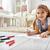 gelukkig · kid · tekening · home · school · kleuterschool - stockfoto © choreograph