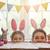 család · húsvét · kellemes · húsvétot · anya · lánygyermek · vadászat - stock fotó © choreograph