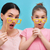 roze · haardroger · Geel · papier · haren · achtergrond - stockfoto © choreograph