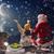 noel · baba · oturma · çatı · neşeli · Noel · mutlu - stok fotoğraf © choreograph