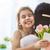 lánygyermek · anya · boldog · anyák · napját · gyermek · virágok · tulipánok - stock fotó © choreograph