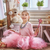 meisje · jurken · omhoog · home · gelukkig · meisje · grappig - stockfoto © choreograph