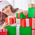 hermosa · qué · Navidad · presente · comprar - foto stock © choreograph