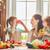 família · feliz · frutas · frescas · café · da · manhã · cozinha · família · comida - foto stock © choreograph
