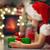 クリスマス · 冬 · 少女 · 現在 · 赤 - ストックフォト © choreograph