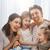 familia · vacaciones · unión · día · de · padres · feliz · dos · ninos - foto stock © choreograph