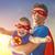 super · papai · ilustração · pai · sorrir · criança - foto stock © choreograph