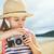 weinig · reiziger · meisje · strand · meisje · zee - stockfoto © choreograph