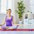 prática · ioga · beautiful · girl · comprometido · mão · mulheres - foto stock © choreograph