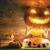 halloween · criança · menina · traje · laranja · festa - foto stock © choreograph