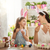 család · húsvét · kellemes · húsvétot · anya · lánygyermek · festmény - stock fotó © choreograph