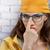 kobieta · żółty · okulary · piękna · młoda · kobieta · duży - zdjęcia stock © choreograph