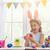gyermek · festmény · tojások · gyönyörű · boldog · család · húsvét - stock fotó © choreograph
