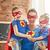 girls and mom in superhero costumes stock photo © choreograph