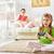 çocuk · oynama · video · oyunları · aile · dinlenmek · anne - stok fotoğraf © choreograph