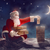 Дед · Мороз · сидят · крыши · веселый · Рождества · счастливым - Сток-фото © choreograph