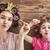 komik · aile · kâğıt · anne · çocuk - stok fotoğraf © choreograph