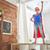 menina · pequeno · criança · pôr · do · sol · céu - foto stock © choreograph