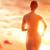 silhouet · atleet · runner · lopen · zonsondergang · actief - stockfoto © choreograph
