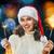 eğlence · genç · kadın · yanan · havai · fişek · Noel · zemin - stok fotoğraf © choreograph