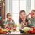 família · feliz · cozinha · alimentação · saudável · casa · mãe · crianças - foto stock © choreograph