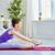 prática · ioga · beautiful · girl · comprometido · mulheres · saúde - foto stock © choreograph