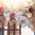 мало · мальчика · играет · улице · снега - Сток-фото © choreograph