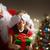 kerstman · verrassing · meisje · huis · home - stockfoto © choreograph