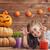 vicces · arc · sütőtök · halloween · szemek · háttér · űr - stock fotó © choreograph