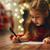 lány · levél · mikulás · vidám · karácsony · boldog - stock fotó © choreograph
