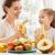vers · fruit · gelukkig · gezin · eten · vrouw · home · vruchten - stockfoto © choreograph