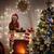 little girl in santas hat stock photo © choreograph