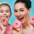 mother and daughter with donuts stock photo © choreograph