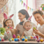 mãe · pai · pintura · família · feliz · juntos · adultos - foto stock © choreograph