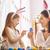 家族 · イースター · 母親 · 娘 · 絵画 · 卵 - ストックフォト © choreograph
