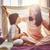 aile · oynama · battaniye · güzel · kız · anne - stok fotoğraf © choreograph