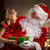 meisje · kerstman · christmas · aanwezig · meisje · kinderen - stockfoto © choreograph