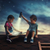 iki · genç · kız · arkadaşlar · oturma · açık · havada · oynama - stok fotoğraf © choreograph