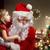 kerstman · luisteren · wensen · huis - stockfoto © choreograph